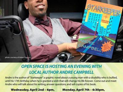 Andre Campbell, EAFWR Open Space at Melville Cafe April 2nd and 7th, 2014